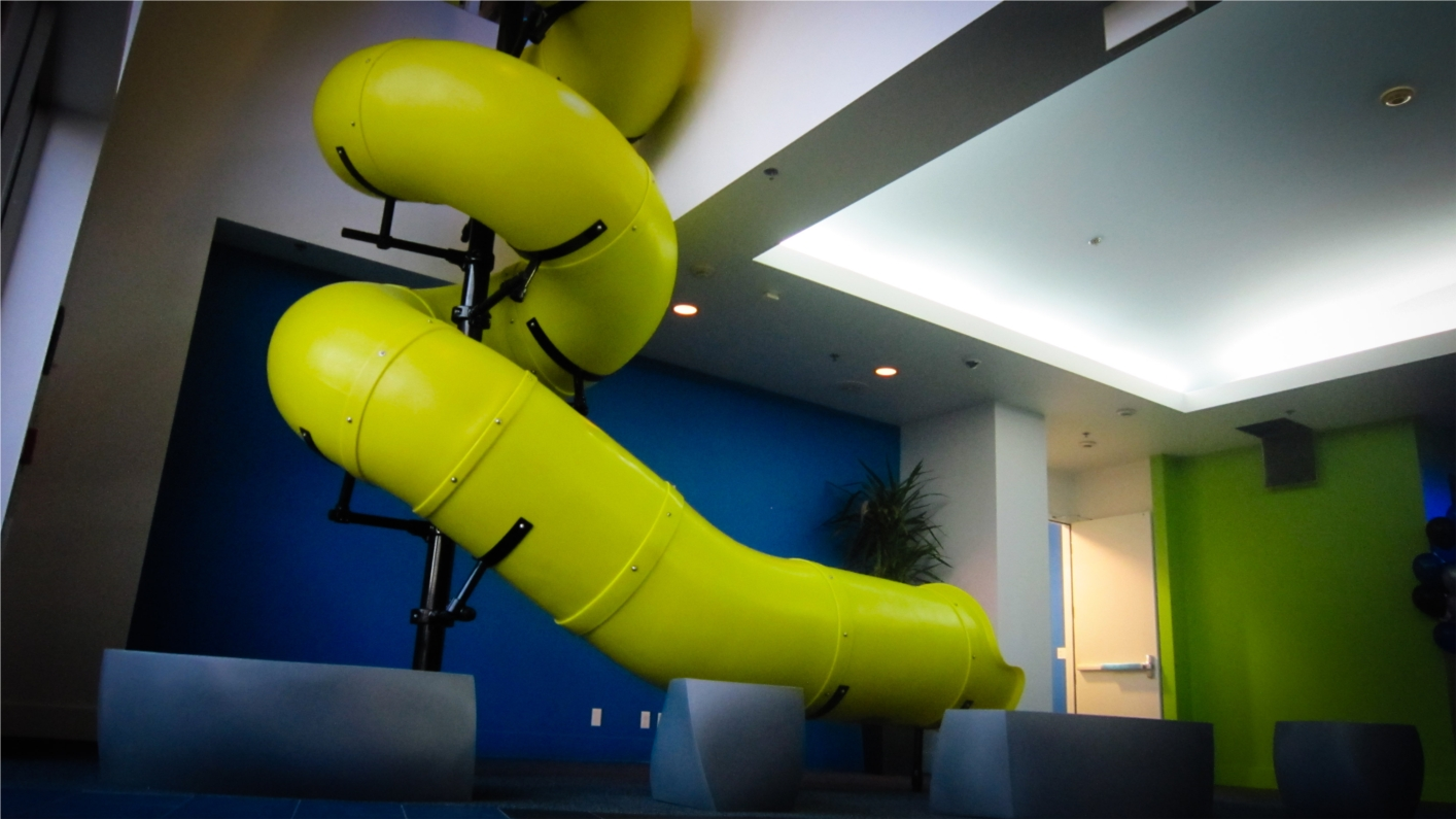 Box's 2-story slide in its Los Altos Headquarters