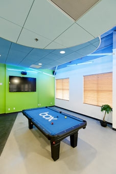 Box Headquarters, game room