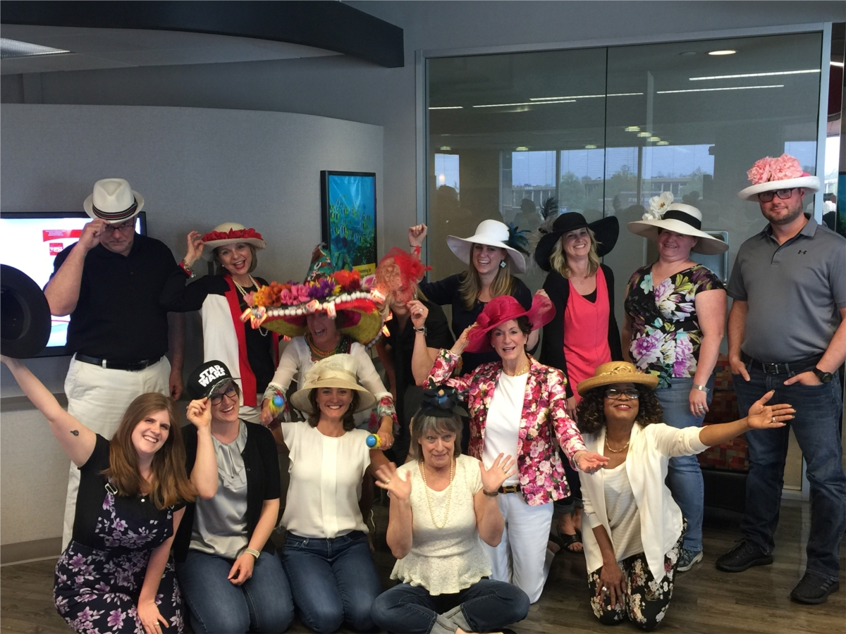 Derby Day! Hats galore!