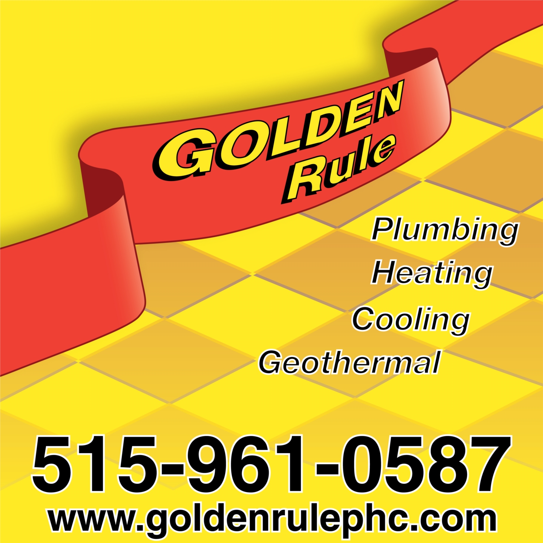 Golden Rule Plumbing Heating & Cooling Company Logo