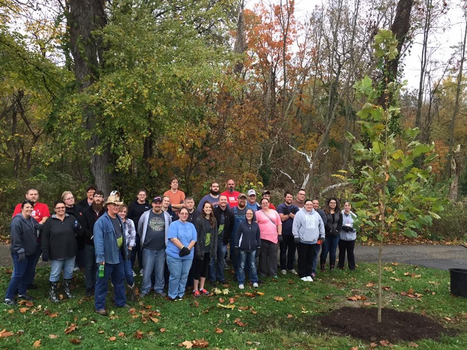 Volunteers at Replenish Tree Planting Event