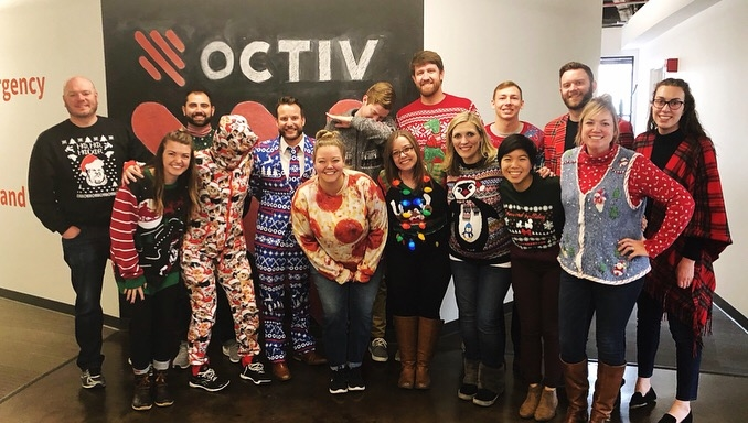 Octiv celebrated the holiday season with a bake-off and ugly sweater party!
