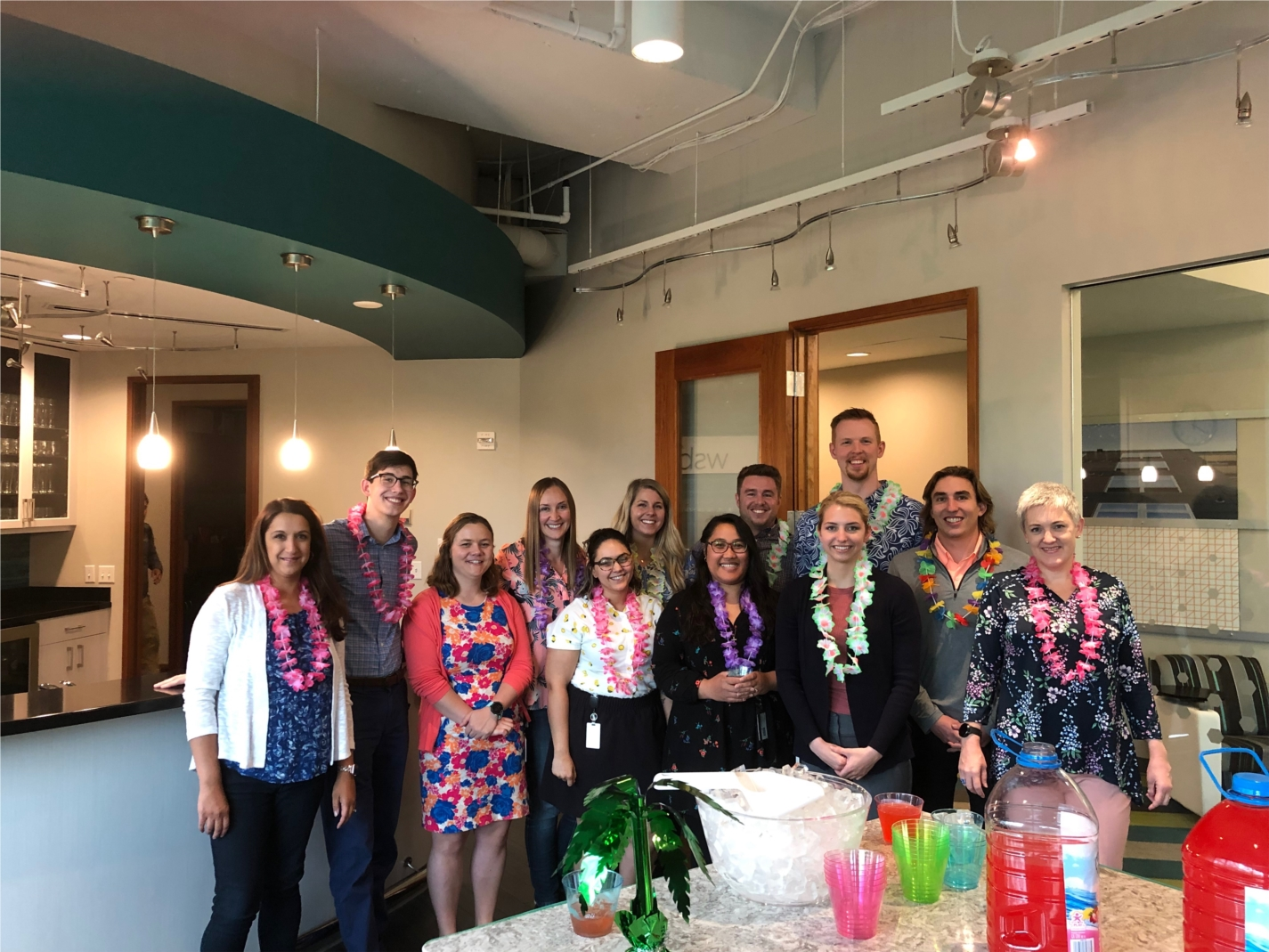 WSB staff dressed down in their favorite Hawaiian apparel to raise awareness for the Leukemia and Lymphoma Society. The company exceeded their $10,000 fundraising goal and was named the winner of the Dress for LLS fundraiser.
