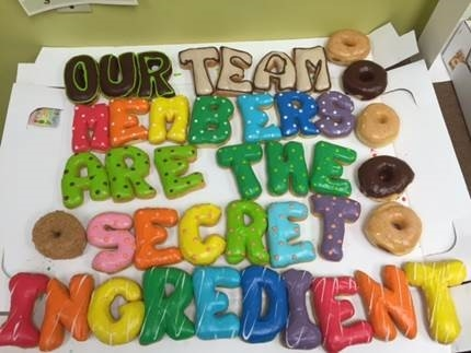 Celebrating our Team Members with doughnuts at the Tulsa (TLS) store in the Southwest region!