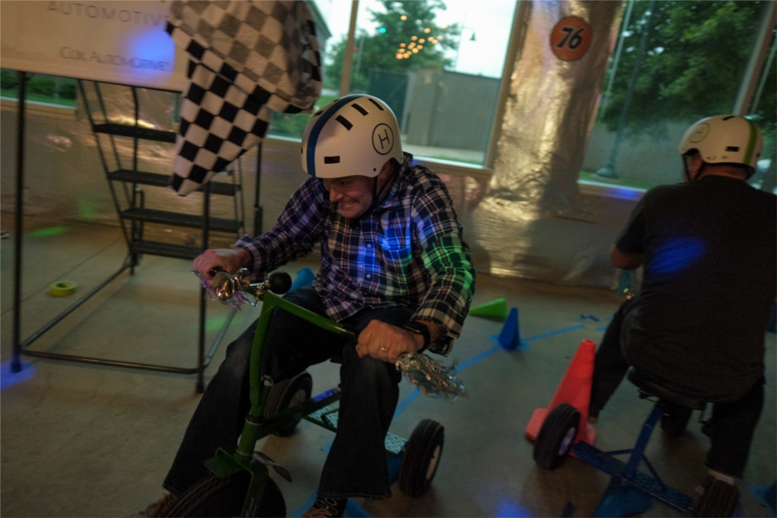 Just a friendly tricycle race between our GM and Director of Product at our Summer Party.