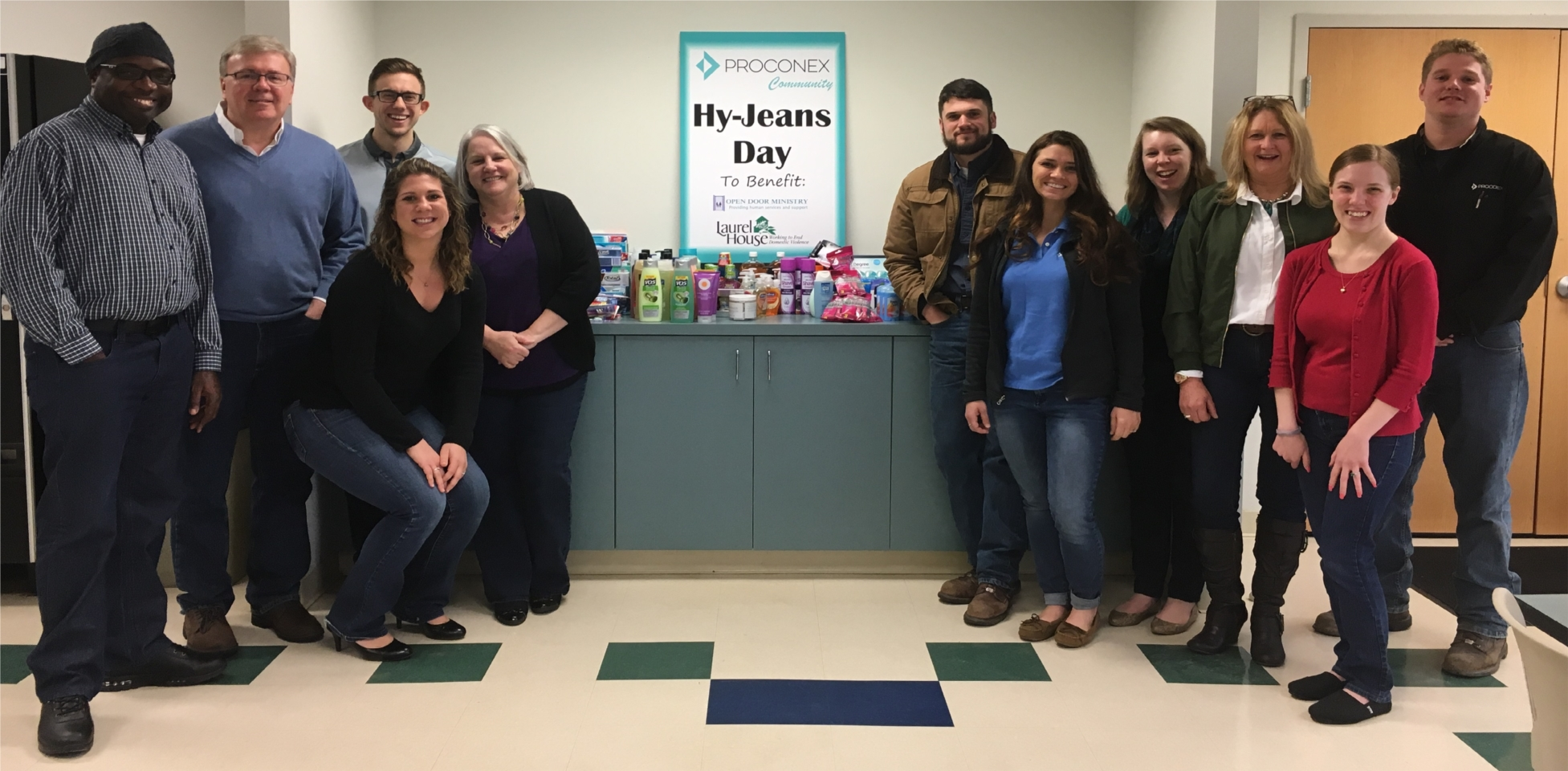 Proconex donates personal care products to Laurel House in Norristown and The Open Door Ministry in Royersford
