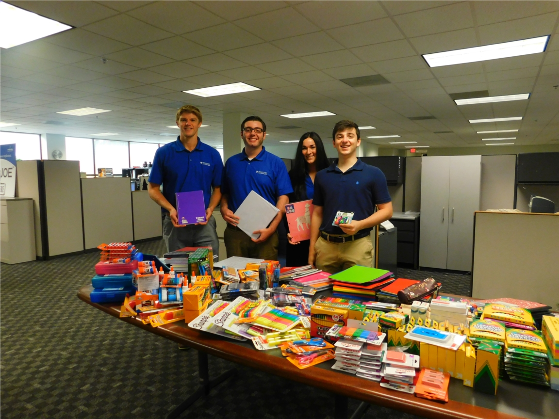 The Build-A-Bag program and School Supply Drive