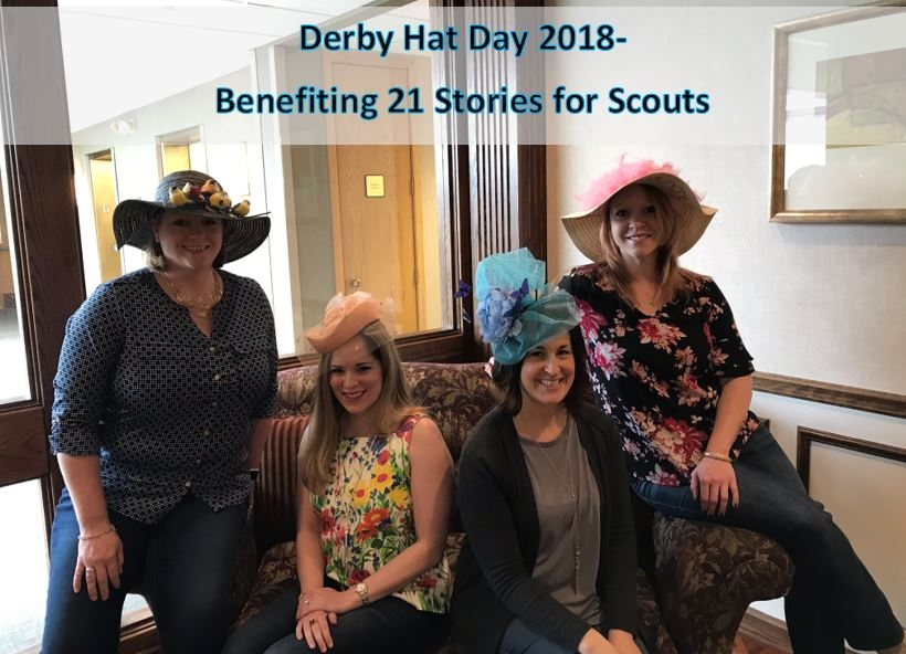 2018 Derby Hat Day raised funds for 21 Stories for Scouts!