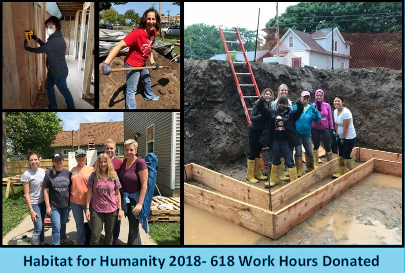 Sage Rutty worked diligently with Habitat for Humanity through the summer.