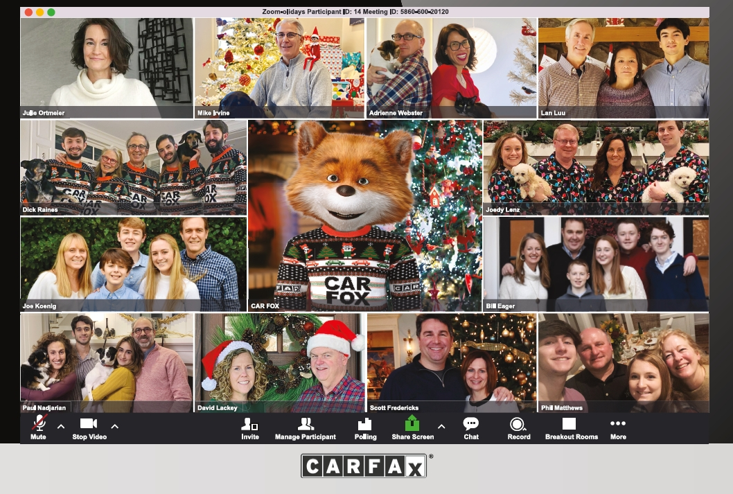 Our 2020 Holiday Card featuring members of our senior team