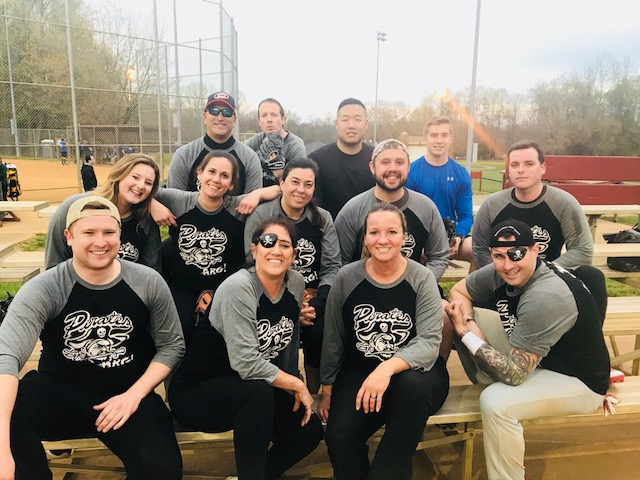 ARG's softball team, the Pirates, after their first win of the season!