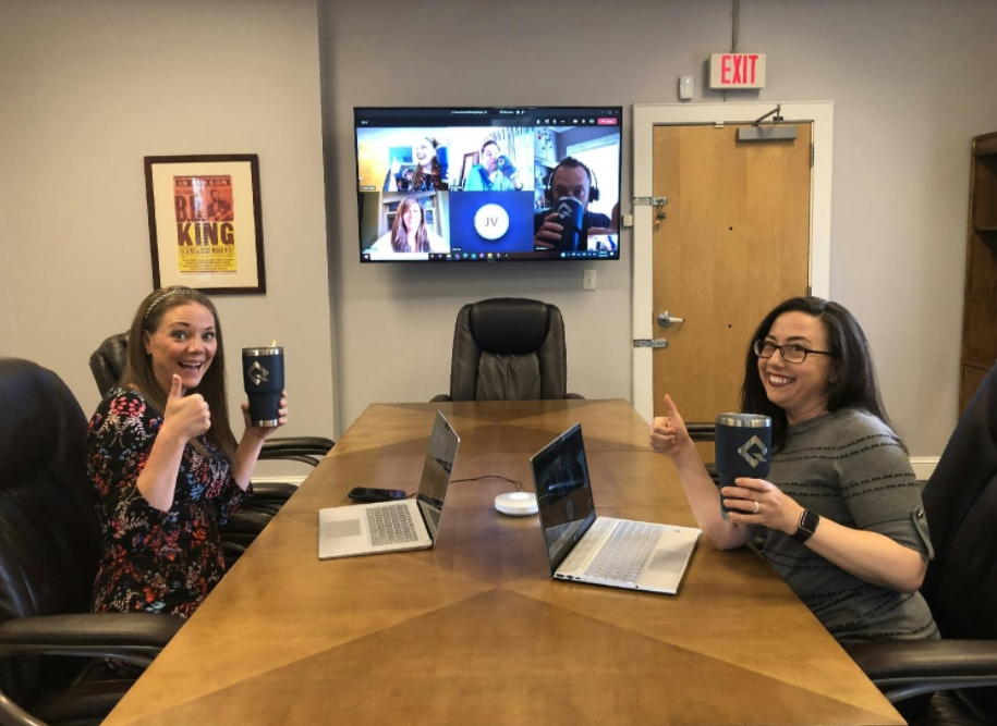 HQ employees and remote employees regularly communicate via Teams and always find time for some fun!