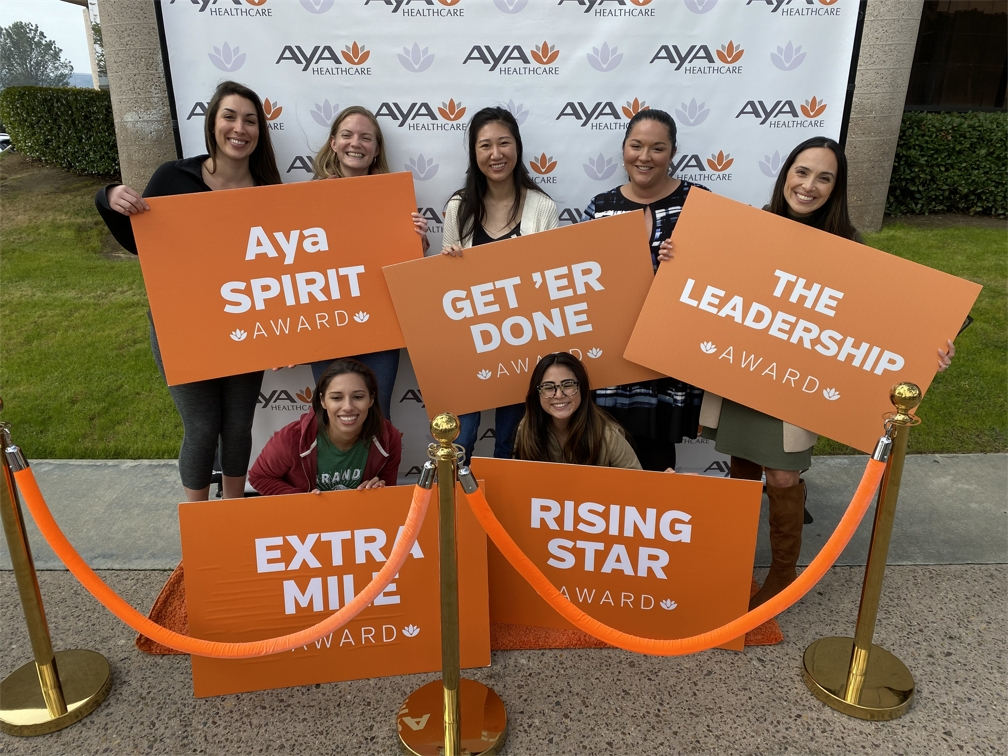 Aya recognizes employees for their hard work with quarterly awards ceremonies.