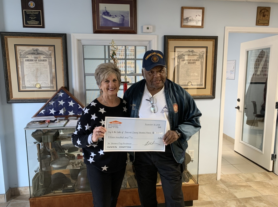 SERVPRO donates to local veterans in honor of Veterans Day.