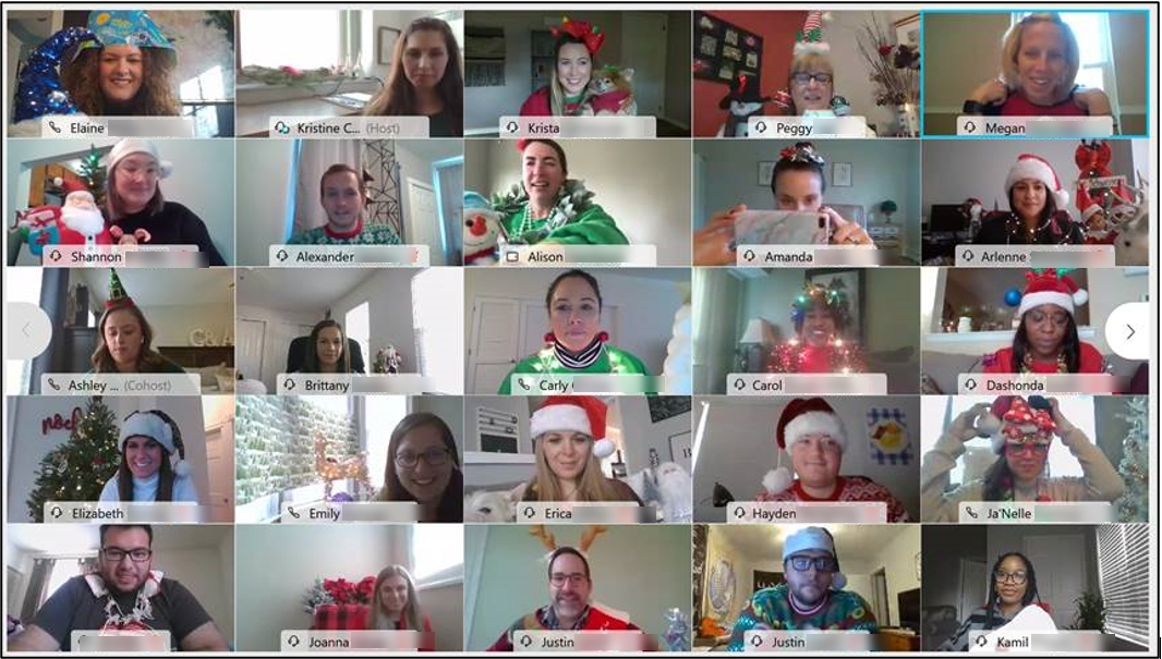 Our Talent Acquisition team had a holly jolly (virtual) celebration- all while remaining safe and socially-distanced!