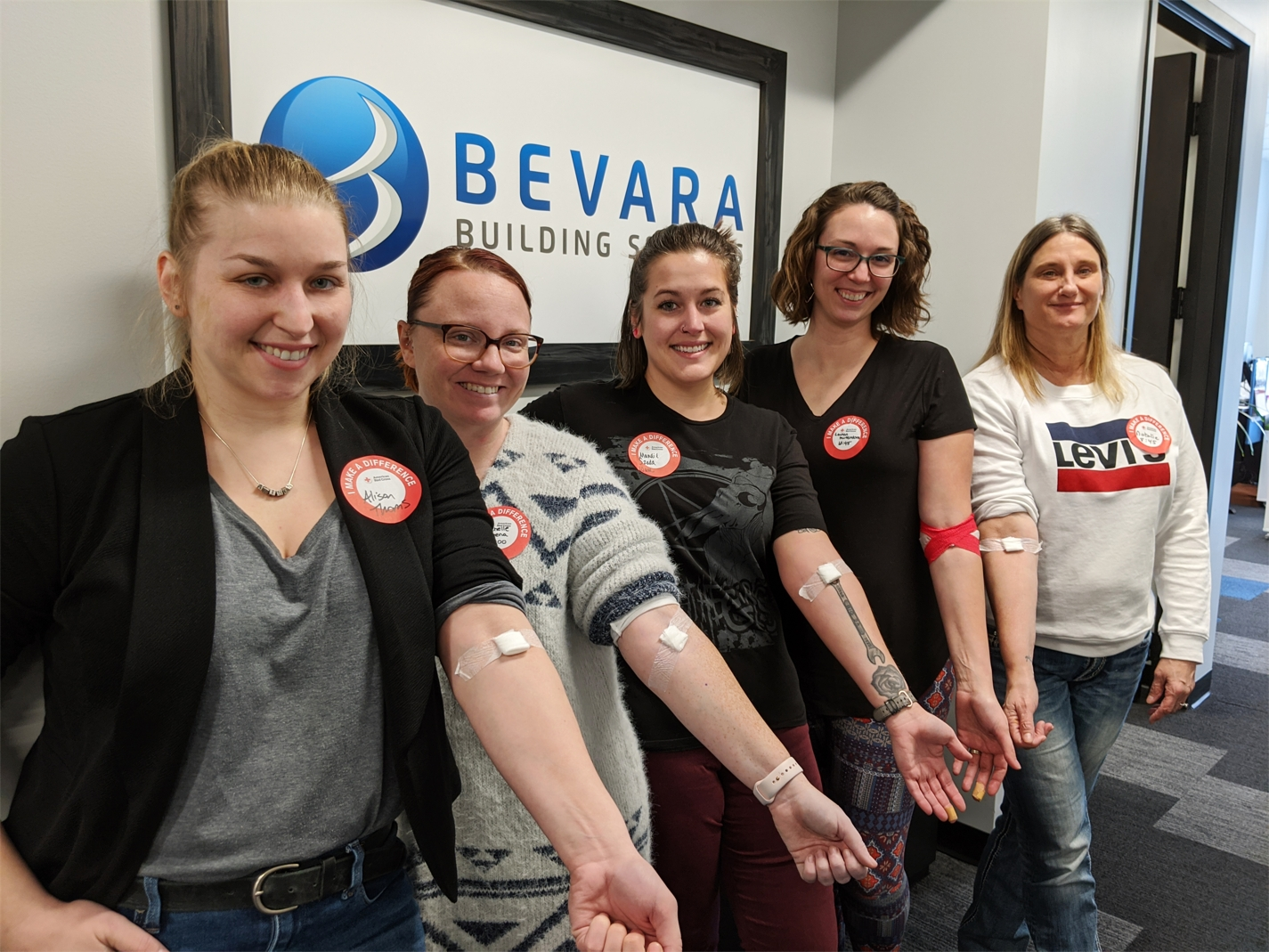 Blood drive participants