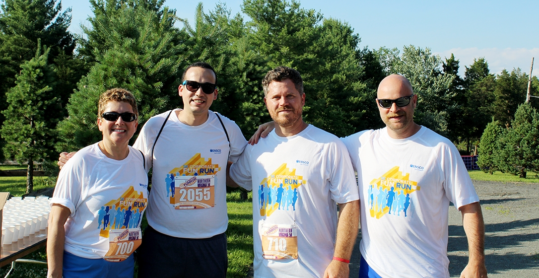 ENSCO employees at the 5K Corporate FunRun, benefiting the Leukemia & Lymphoma Society