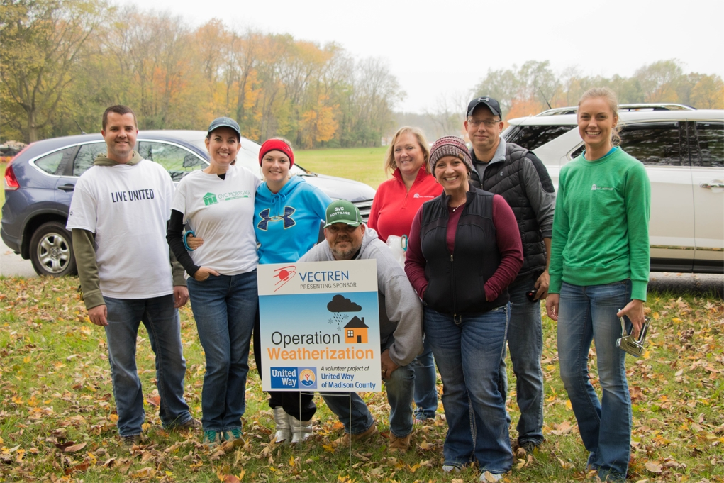 GVC volunteers at United Way's Operation Weatherization