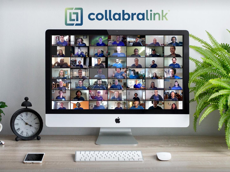 CollabraLink team members virtual engagement event