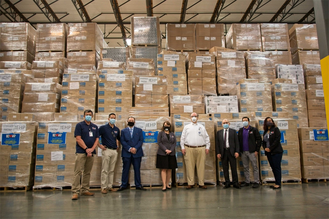 IEHP provided more than 2.4 million units of personal protective equipment to Inland Empire government agencies, medical societies, associations, and hospitals during COVID-19.