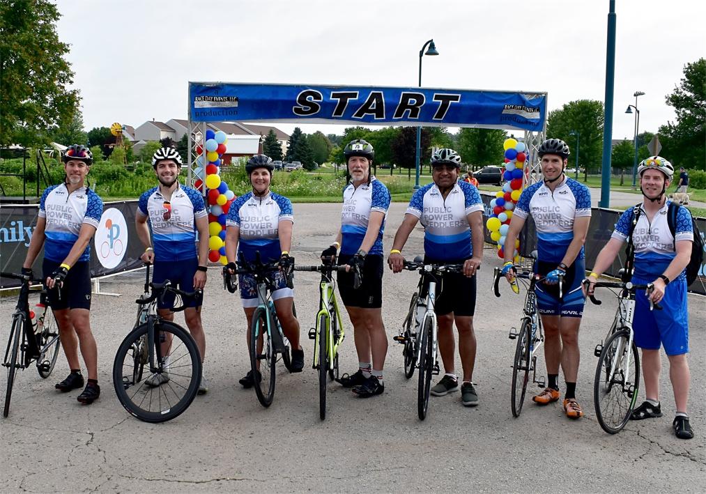 WPPI Energy's Team the Public Power Peddlers Bike Race to Raise Money.jpg