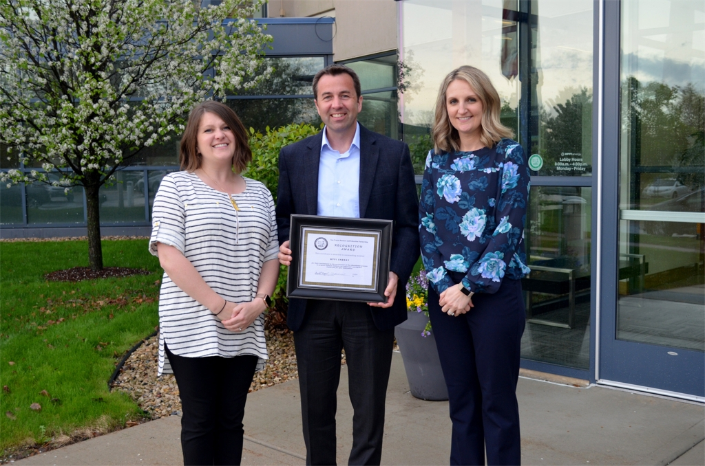 WPPI Energy Employees Accept the 2019 Sun Prairie Business and Education Partnership's Recognition Award.jpg