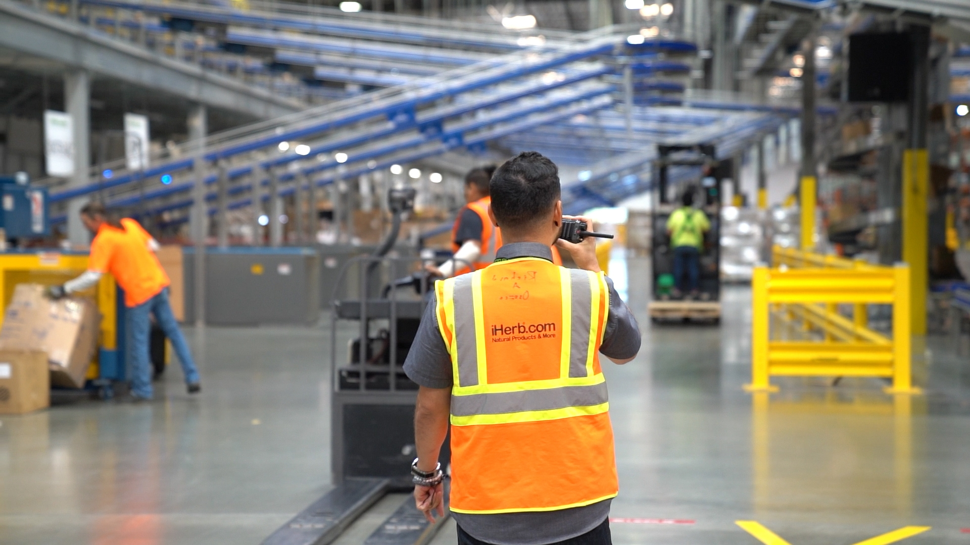 Inside one of iHerb's warehouses