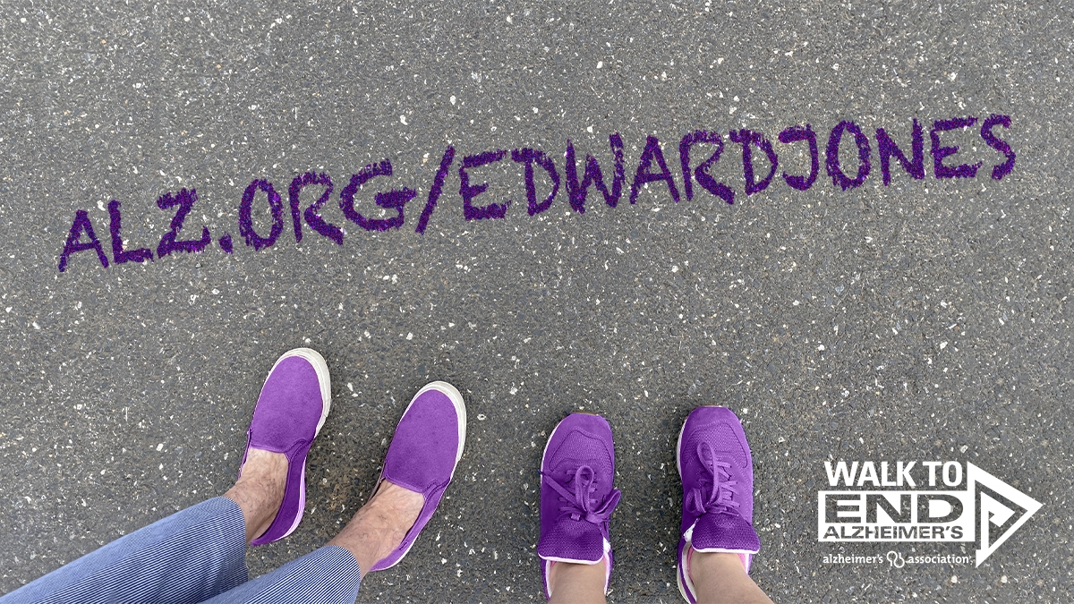 Edward Jones is the National Presenting Sponsor of the Walk to End Alzheimer's