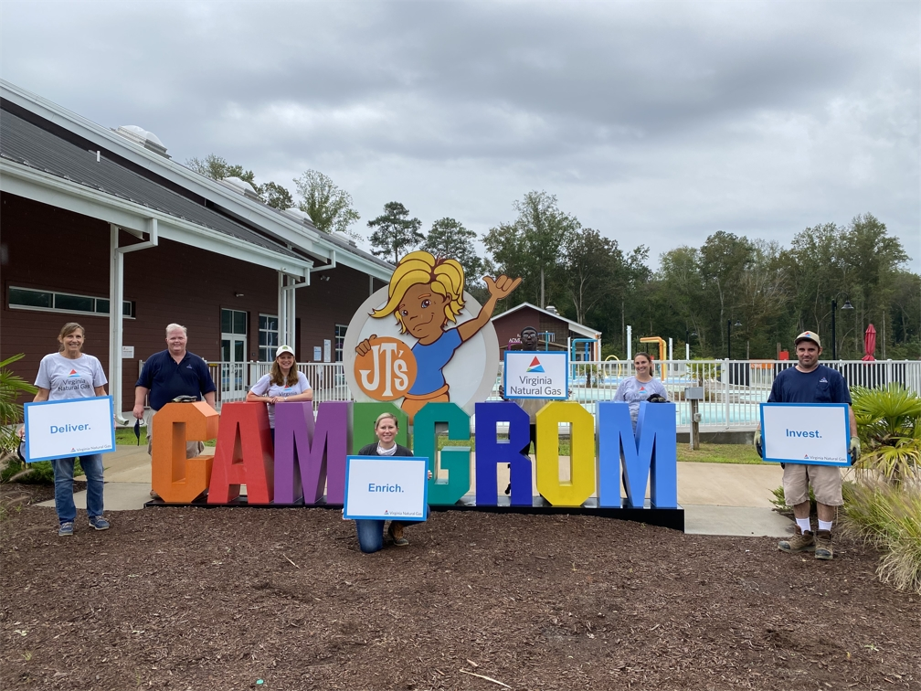 VNG employees volunteered at Camp Grom in Virginia Beach as part of United Way's Day of Caring.