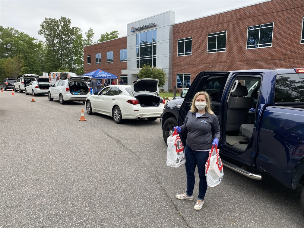 VNG hosted several drive-thru food drives to help those in need during the COVID-19 pandemic.