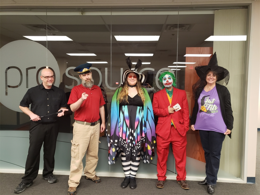 Prosource team members dress up for Halloween in 2019.