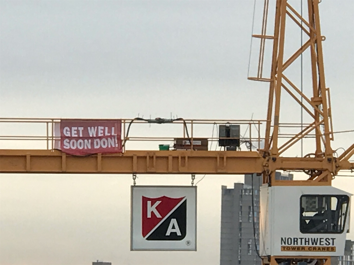 A thoughtful gesture for a Firefighters for Healing patient from The Larking jobsite.