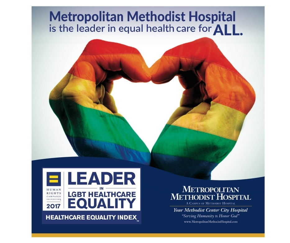 Metropolitan Methodist Hospital is the only hospital in San Antonio with a Healthcare Equality Index designation.