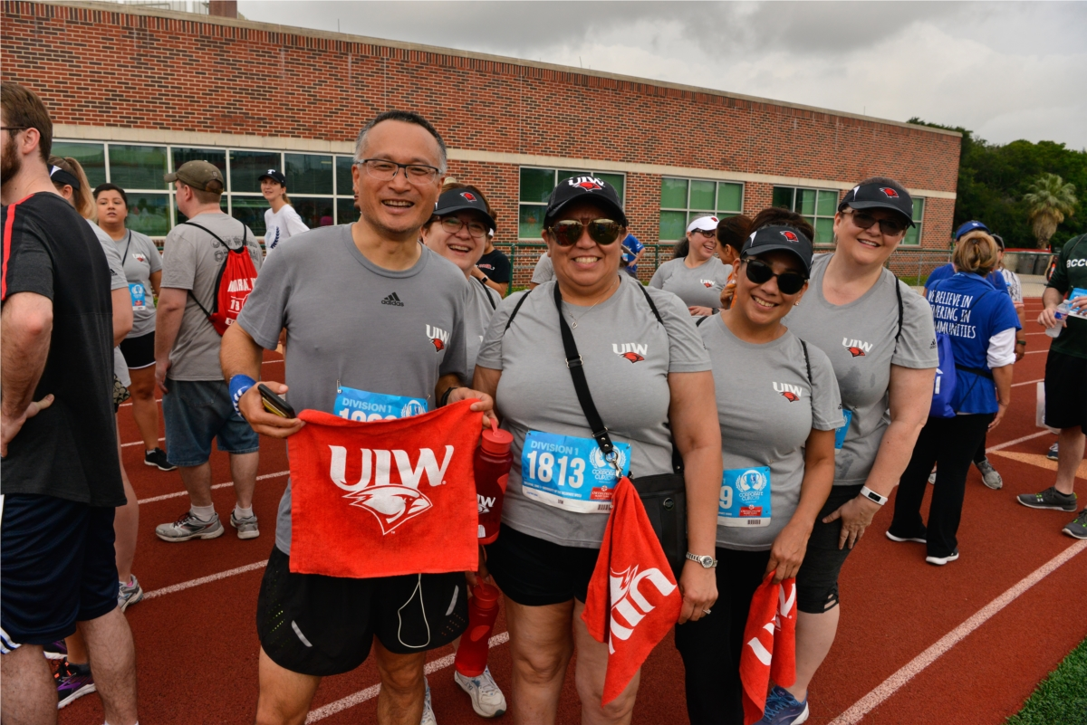 Employees preparing to participate in the 2019 Corporate Cup