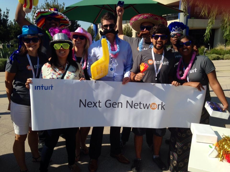 Employee networks are one of the ways we live our commitment to diversity and inclusion. Pictured is our Next Generation Network of early career talent at the Engagement Forum. Intuit has a total of 11 employee networks raging from faith-based networks, to racial affinity networks, to special-needs networks.