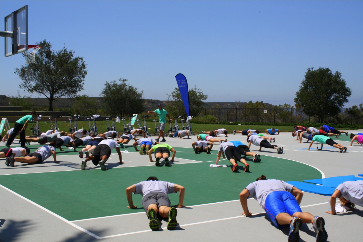 Intuit employees make it count! Employees participated in a Charity Boot Camp in August to raise funds for our community partner Adaptive Sports, which helps people with disabilities maintain physical activity. Nearly $2,000 was donated directly to the non-profit.