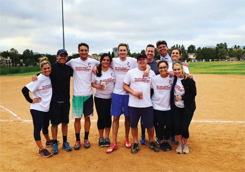 JLL participated in our first Kickball league in the spring!