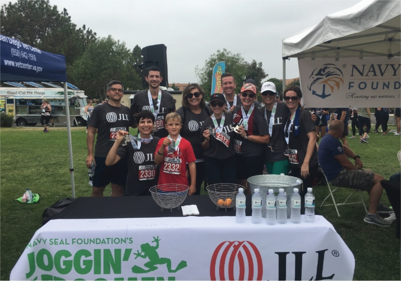 JLL team members were proud to participate in Joggin' For Frogmen's 5K Race in July to benefit the Navy Seal Foundation.