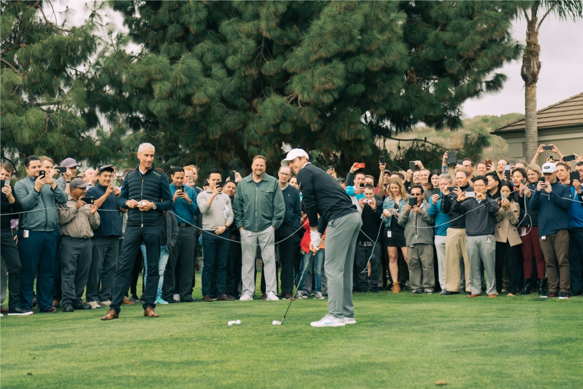 Rory McIlroy visits Team TaylorMade