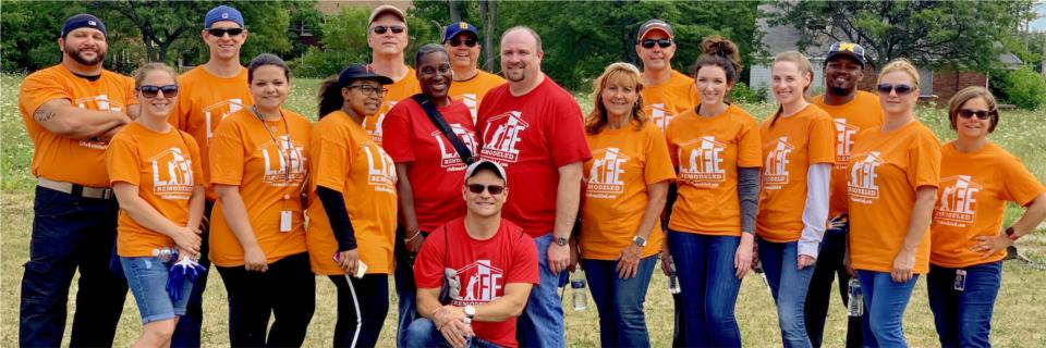 Sun team members volunteering with Life Remodeled in Detroit.