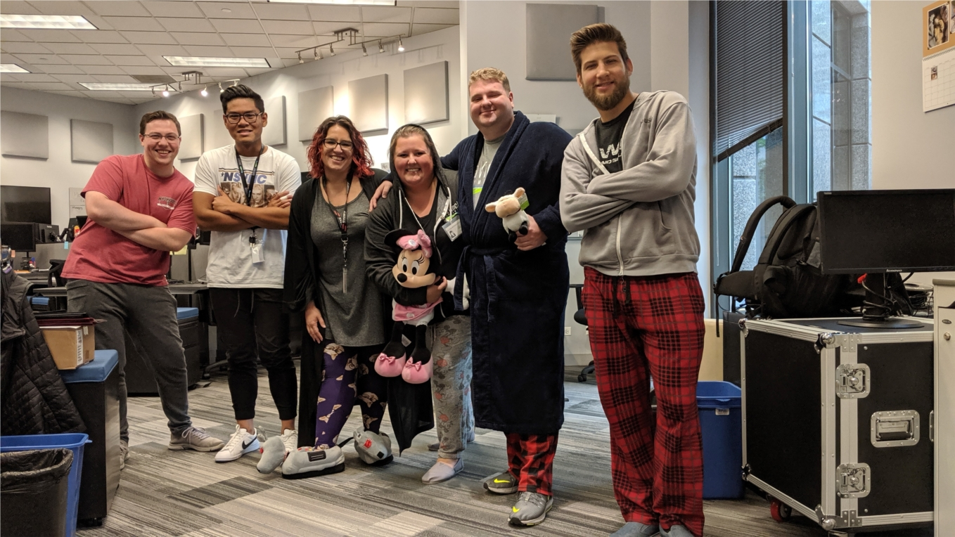 """daVinci Payments - PJ day is the cheery way Vinchies say, """"Happy Holidays!"""""""