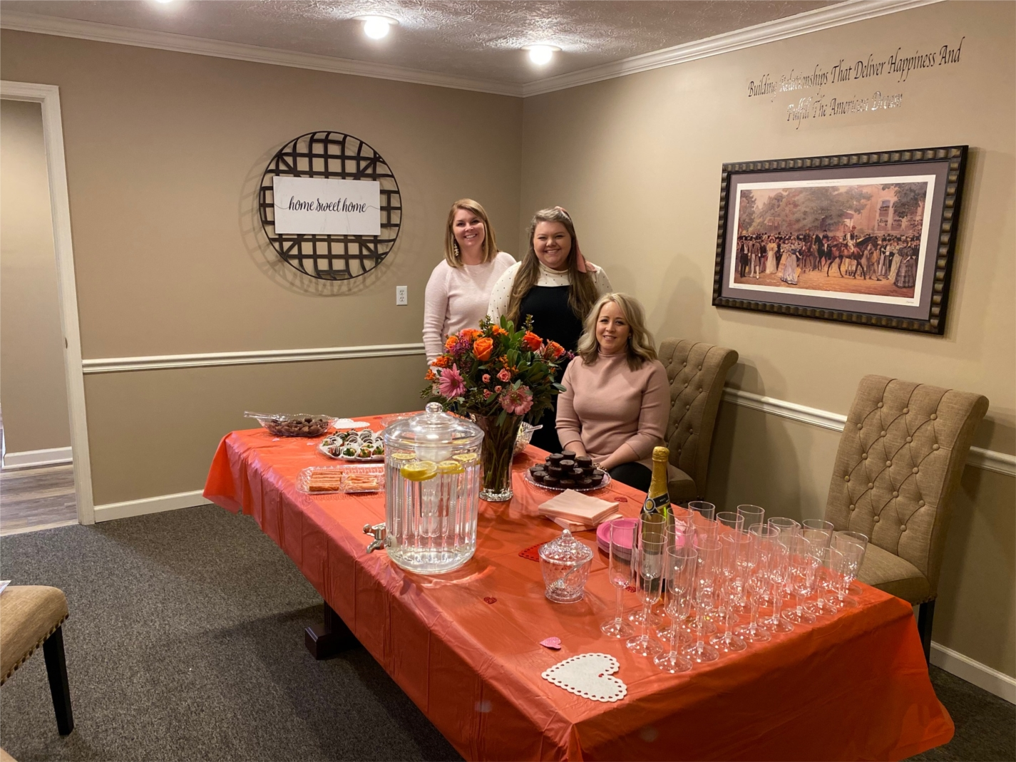 The Versailles (KY) office hosted a Valentine's themed Grand Re-Opening event!