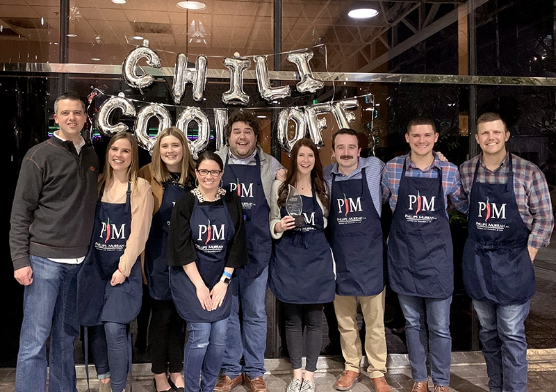 Phillips Murrah attorneys participate in the 2020 OCBA Chili Cookoff in February.