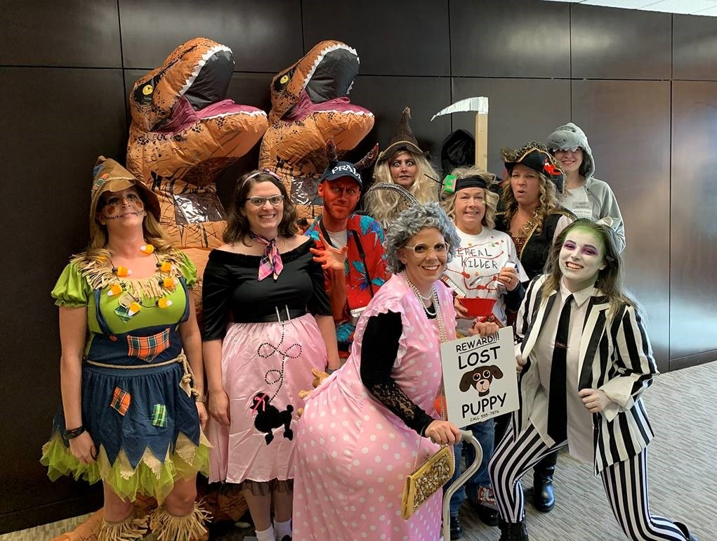Employees at Phillips Murrah celebrated Halloween 2019 by competing in a costume contest as part of the Firm's annual efforts to raise money for Oklahoma Regional Food Bank.