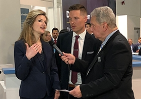 Anne Perrault and Zach Harris speak with GlobeSt at ICSC RECon