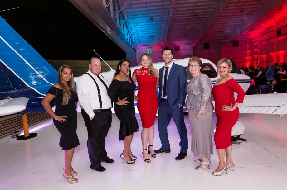 Crewmembers and their guests enjoyed our spectacular Christmas Gala, 'Come Fly with Me.' overlooking the runways of the Orlando Executive Airport.