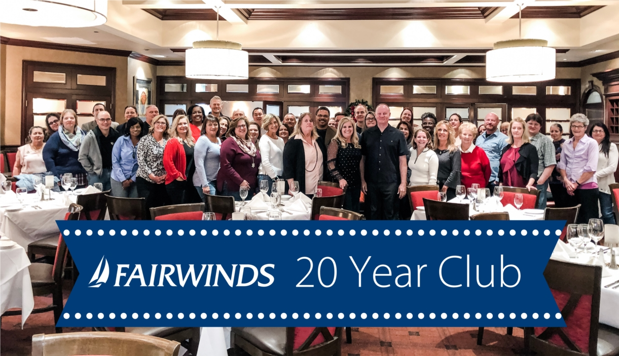 Forty-eight crewmembers employed for 20+ years enjoying an afternoon of celebration at Ruth's Chris Steak House. Three members of the prestigious '20 Year Club' have been crewmembers for over 40 years!