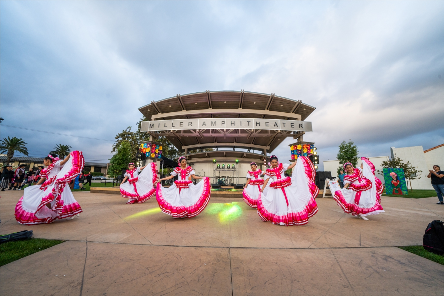 Dancers perform in front of the Miller Amphitheater during Fontana's annual La Gran Fiesta in honor of Hispanic Heritage Month.