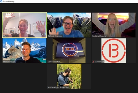 A recent virtual escape room event - we've been doing a lot of virtual events to stay engaged while we're all remote.