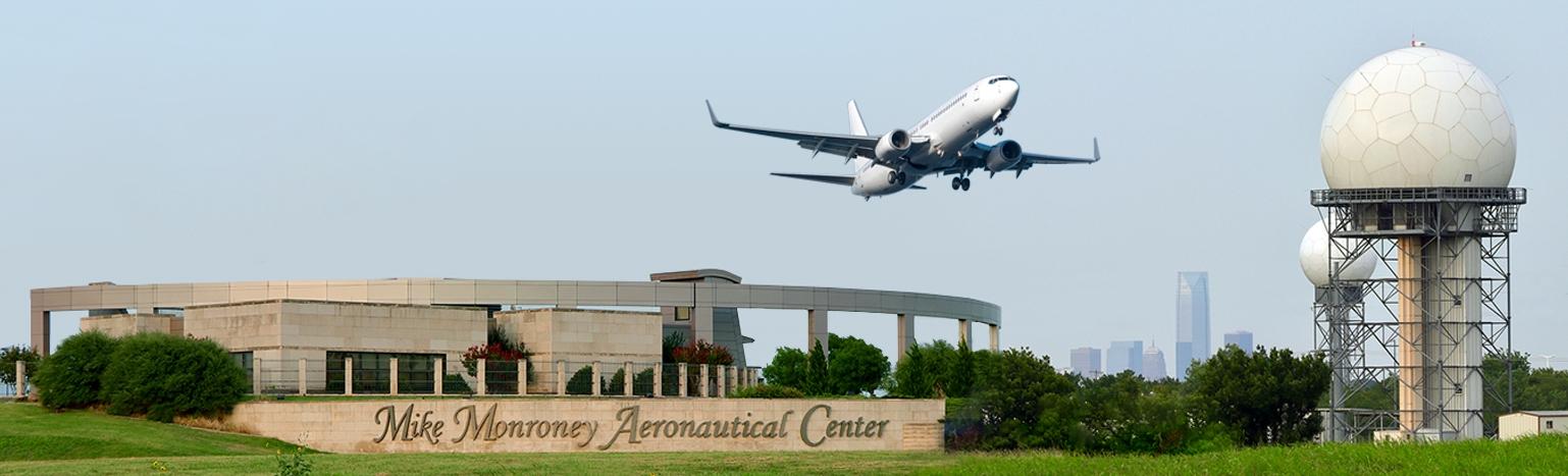 Entrance to the FAA Mike Monroney Aeronautical Center Facilities